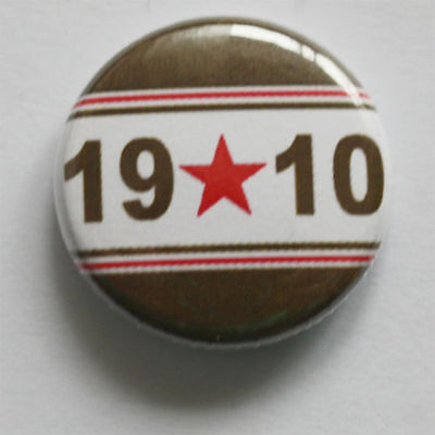 1910 Button Badge Sankt St. Pauli Punk Antifa Derbysieger braun weiß Pin Hamburg