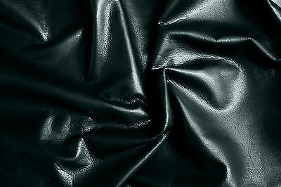 Finest Black Cowhide Barkers Hide & Leather Skin N140 Clothing Upholstery & Bags