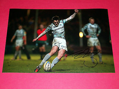 Toby Flood England Rugby Autograph Hand Signed 12X8 Photo