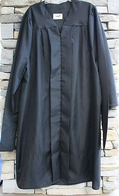 Jostens Masters Graduation Gown Robe Black Blue Few Generic Sizes Use Scroll Bar