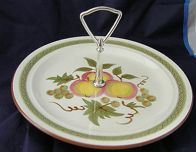 Stangl Pottery Handled Serving Tray Apple Delight Pattern 10 Inches