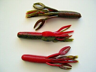 """10CT 3.75/"""" Swim Craw Salted And Scented Watermelon Seed"""