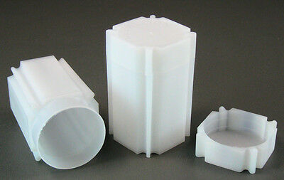 10 CoinSafe Square Coin Storage Tubes for 1oz Silver Rounds & Medallions