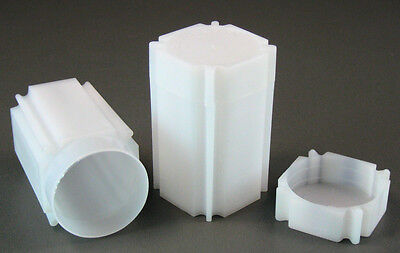 10 Square Coin Storage Tubes for 1oz Silver Rounds & Medallions by CoinSafe