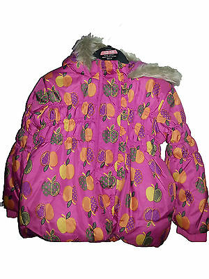 Girls  Pink Quilted Winter Hooded Coat Jacket 12-18M, 18-24M, 2-3Yrs