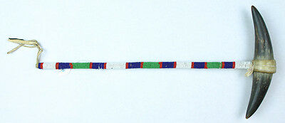 Superb Beaded Plains Indian Dance Wand - Ex- Zalesky Museum Collection