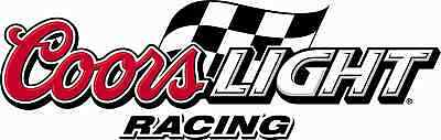 """COORS LIGHT Vinyl Sticker Decal 6"""" (RACING full color)"""