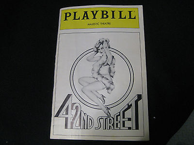Playbill Mejestic Theater NYC 42nd Street Feb 1982