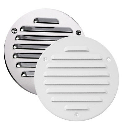"""Metal Circle Air Vent Grille Round Ducting Ventilation Cover Ceiling Wall 4"""" 5"""""""