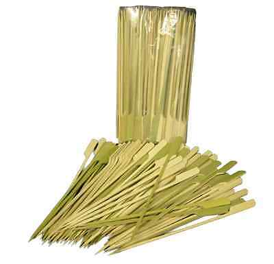 """100 x Flat 7"""" Bamboo Skewer BBQ Buffets Catering Cocktail Appetizer Picks"""