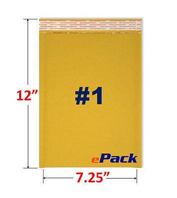 """20- 7.25x12 Kraft Bubble Mailers Padded Envelope Shipping  Bags 7.25"""" x 12"""" #1"""