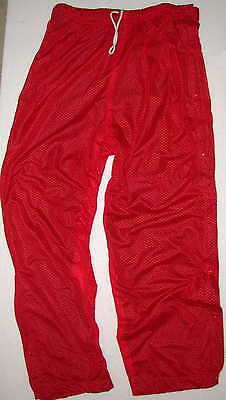 New Tearaway Warmup Pants Red or Blue 4 Sizes that clip open for quick removal