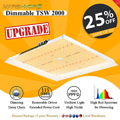 Mars 300W LED Grow Light Panel Full Spectrum Indoor Plant Hydroponics Veg Flower