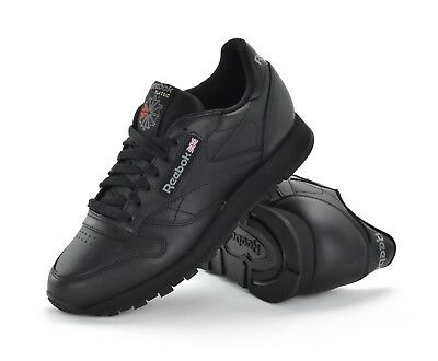 Reebok Classic Leather - Mens Trainers - Black - 2267 - Brand New