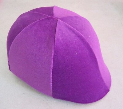 Horse Helmet Cover ALL AUSTRALIAN MADE Mauve/dusty pink velvet Any size you need
