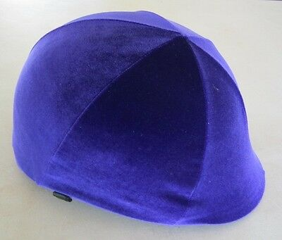 Horse Helmet Cover ALL AUSTRALIAN MADE Purple velvet Any size you need