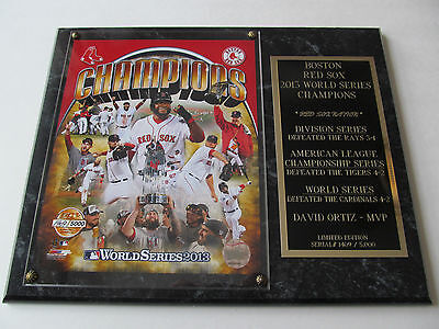 Boston Red Sox Serial# World Series Champions 2013 Licensed Plaque Only 5,000