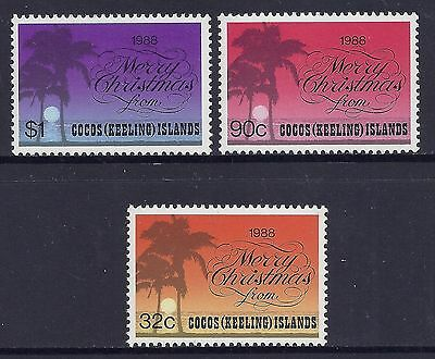 1988 Cocos Islands Christmas Set Of 3 Mint Mnh/muh