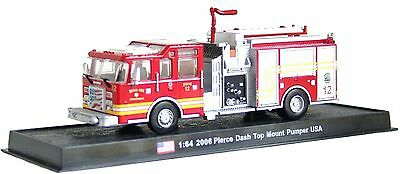 Pierce Dash Top Mount Pumper Fire Truck Diecast 1:64 Model