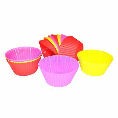 12 x Silicone Cupcake / Fairy Cake Cases - Reusable Molds