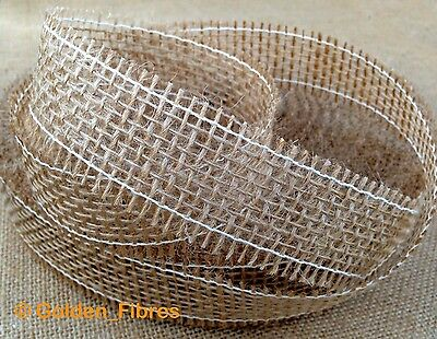 Natural Burlap Jute Hessian Ribbon Trims Scrim Tape Rustic DIY Wedding Floristry