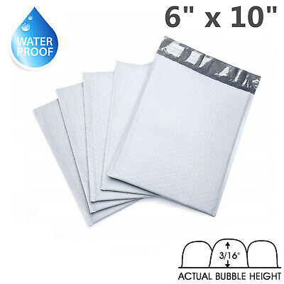 "50 - 6x10 Poly Bubble Mailers Padded Envelope Shipping Supply Bags 6"" x 10"" #0"