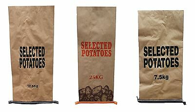 50 x New Potato Bags Sacks 25kg 12.5kg or 7.5kg Potatoes Garden Produce