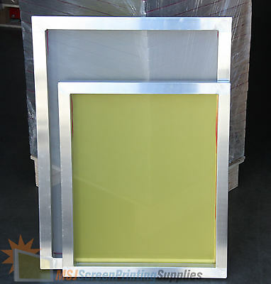 "6 Pack - 18""x20"" Aluminum Frame Printing Screens 110/160/230 Mesh Count Mix Lot"