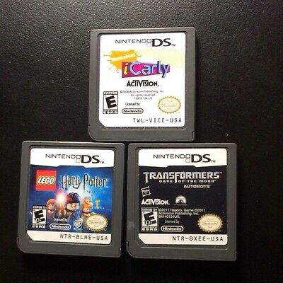 Lot of 3 Nintendo DS Games Lego + Harry+ Potter + Transformers + iCarly