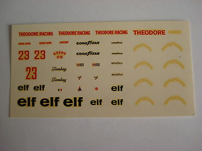 Modellismo 90 1//43 Decal sheet Ensign MN177 F.1 Ford 1977 Theodore Elf Tambay