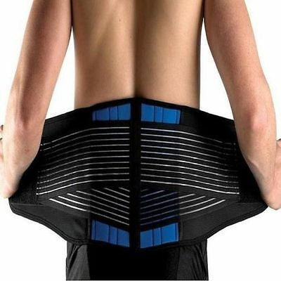 Adjustable Neoprene Double-Pull Lumbar Support Lower Back Belt Brace Pain Relief