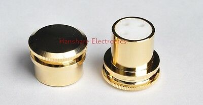 4ps pure copper XLR protective cap gold plated teflon inner for Male