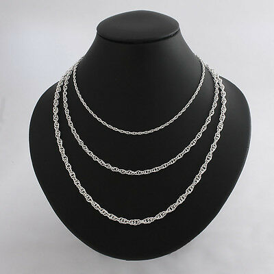 Solid .925 Sterling Silver Strong Rope Chain Prince of Wales Necklace Bracelet