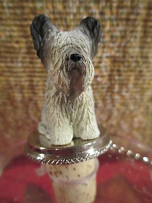 Skye  Terrier   ~  Dog   Wine Stopper