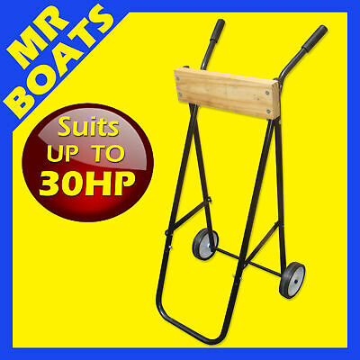 OUTBOARD MOTOR TROLLEY STAND suits up to 30hp - FREE POST - Protect your engine