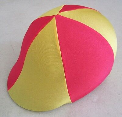 Horse Helmet Cover ALL AUSTRALIAN MADE Red and yellow Any size you need