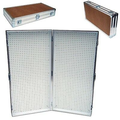 "Pegboard Display Pegboard Rack Stand Portable Pegboard Case - 48"" x 48"" High"