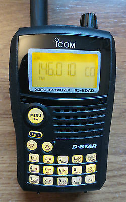 ICOM IC-80AD VHF/UHF D-Star Dual-Band 2 Way Radio HT + WCS80 Software & extras,