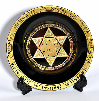 Collectible Plate With Stand From The Holyland  jerusalem ( Magen David )