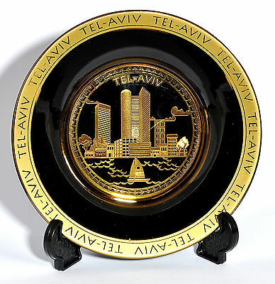 Collectible Golden Plate of Tel Aviv City.