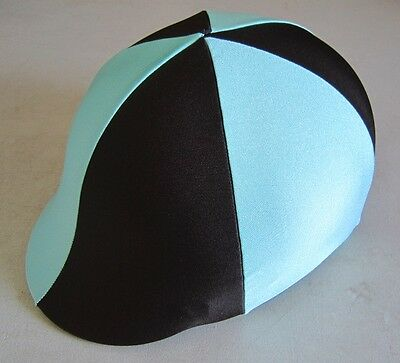 Horse Helmet Cover ALL AUSTRALIAN MADE Mint & Chocolate brown Any size you need