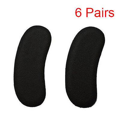 6 Pairs Black Sticky Fabric Shoe Heel Inserts Insoles Pads Cushion Grips Strong