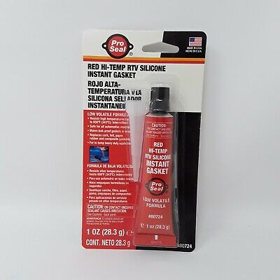 PRO SEAL Red HI-Temp RTV Silicone Instant Gasket NEW