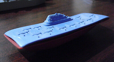 """Vintage 1950s USA Marked Plastic Aircraft Carrier Ship  4 1/4"""" Long"""