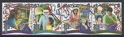 2000 Pitcairn Islands Christmas Strip Of 4 Fine Mint Mnh/muh