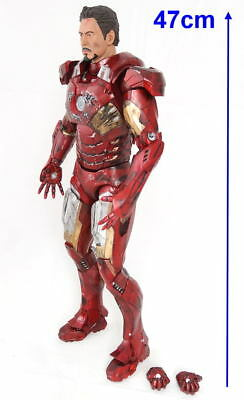 Avengers Iron Man Mark VII Battle Damage 1:4 Tony Stark Action figur NECA 47cm