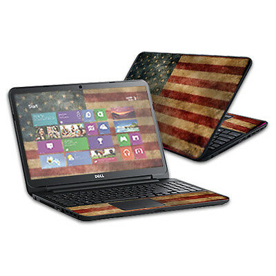 "Skin Decal Wrap for Dell Inspiron 15 i15RV Laptop 15.6"" Vintage Flag"