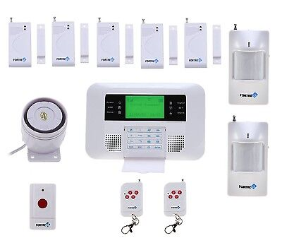 Fortress Wireless Security Alarm System GSM Contact Sensor Motion Detector Siren
