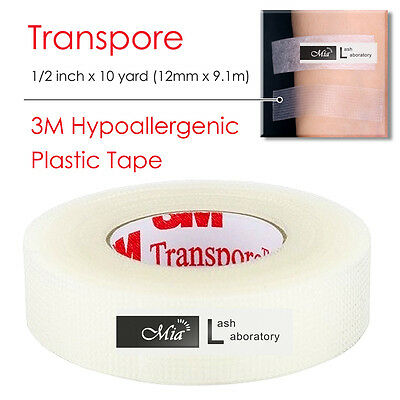 [0.5''] Transparent 3M Tape Eyelash Extension Clear Medical Transpore Breathable