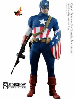 Captain America MMS205 Star Spangled Man Exclusive Actionfigur 1:6 Hot Toys